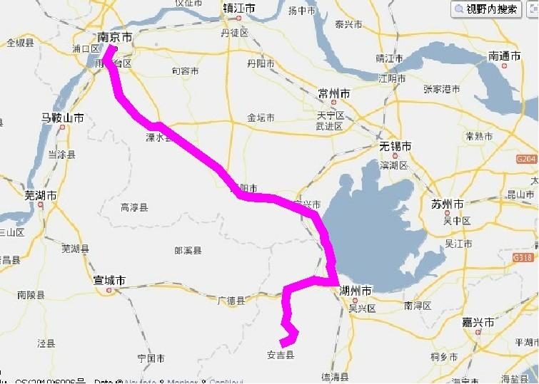 浙江安吉旅游地图